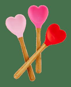 Cuillère silicone en forme de cœur – Coloris au choix
