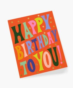 Carte anniversaire Groovy Rifle Paper
