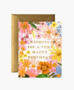 Carte anniversaire Marguerite Rifle Paper