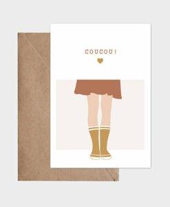 Carte Coucou Jupe et bottes Atelier Oranger