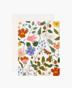 Carte florale Strawberry Fields Rifle Paper – Crème