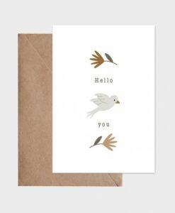 Carte Hello Un air de printemps Atelier Oranger