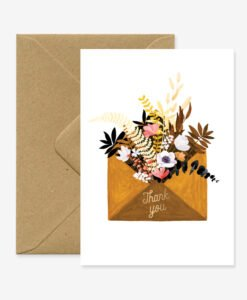 Carte remerciement Flower Envelop