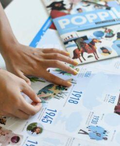 Poster éducatif + 80 stickers – Frise historique du monde (8 ans et +)