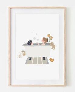Affichette Au bain Atelier Oranger