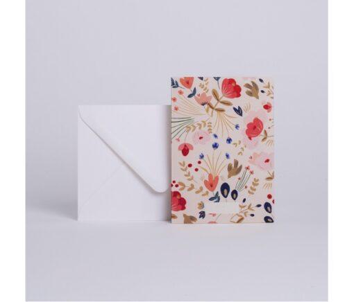 Carte Fleurs Folk Season Paper