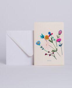 Carte Bisou Petites fleurs Season Paper