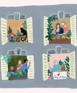 Carte Bisous À la Fenêtre Season Paper