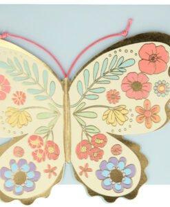 Carte anniversaire à poser Papillon