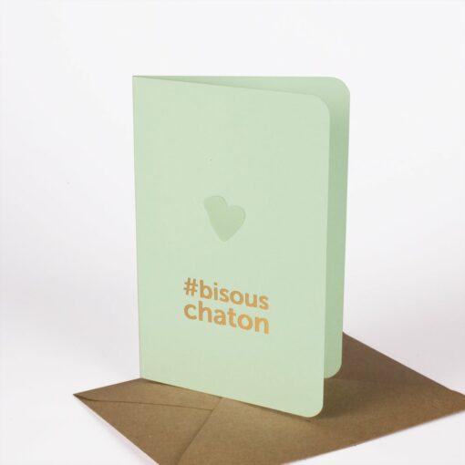 Carte Bisou chaton Les Editions du Paon