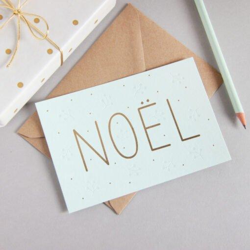 Carte Noël Or