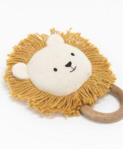 Hochet lion coton biologique