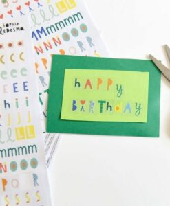 190 Stickers L'Alphabet Poppik